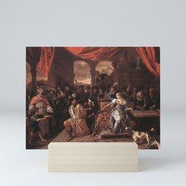 Jan Steen - Samson Mocked by the Philistines Mini Art Print