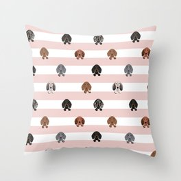 dachshund stripes dog breed doxie gifts Throw Pillow