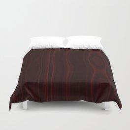 Mahogany Wood Texture Duvet Cover