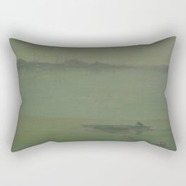 Thames Nocturne by James McNeill Whistler Rectangular Pillow