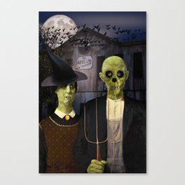 American Gothic Halloween Canvas Print