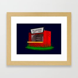 Bubs' Concession Stand - Closed Framed Art Print