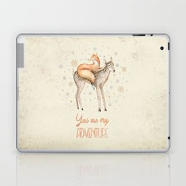 You are my adventure- fox and deer in winter- merry christmas Laptop & iPad Skin