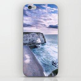 Natural Rock Arch -  ocean, coastal cliffs, waves, clouds, iPhone Skin