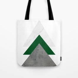 Marble Green Concrete Arrows Collage Tote Bag