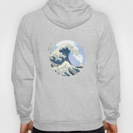 The Great Wave off Kanagawa With Mount Fuji Eruption Hoody