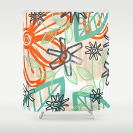 abstract summer Shower Curtain
