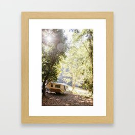 Camping Under the Trees Framed Art Print