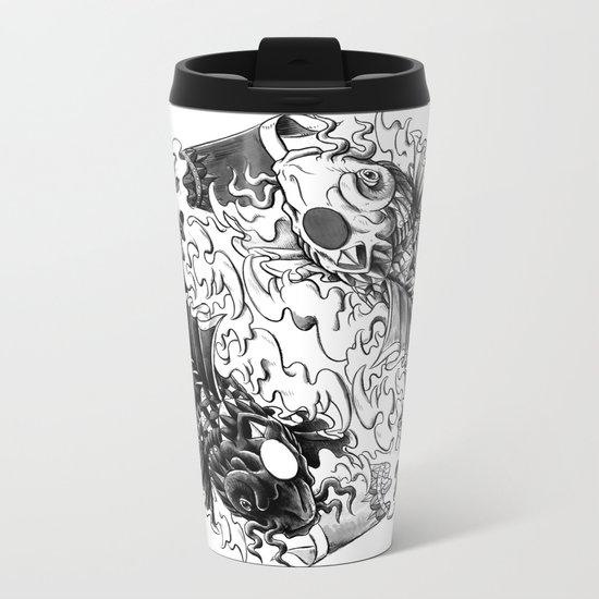 Yin Yang Koi Metal Travel Mug