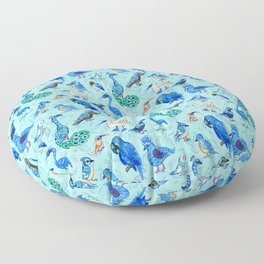 Blue Birds Floor Pillow