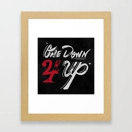 One Down 4 Up Framed Art Print