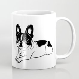 Double Hooded Pied Frenchie Coffee Mug