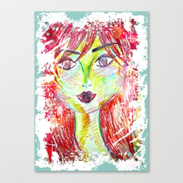 You Don't Scare Me, My Best Friend is Red-Head Canvas Print