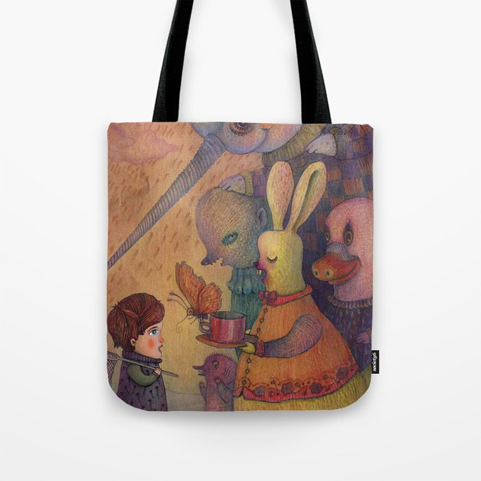 One spring day, while chasing butterflies Tote Bag