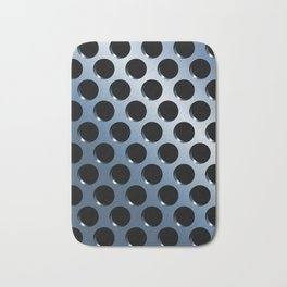 Cool Steel Graphic Art Like Polka Dots Bath Mat