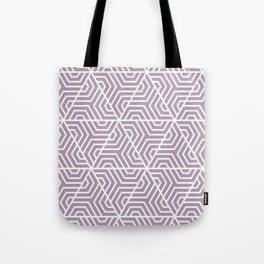 Lilac Luster - violet - Geometric Seamless Triangles Pattern Tote Bag