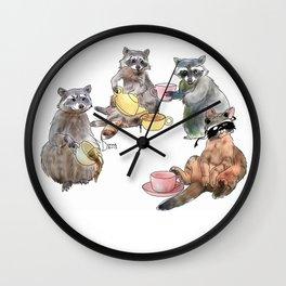 Racoon Tea Party Wall Clock