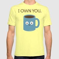 Coffee Talk LARGE Mens Fitted Tee Lemon