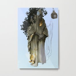 Tarot: The Hermit Metal Print