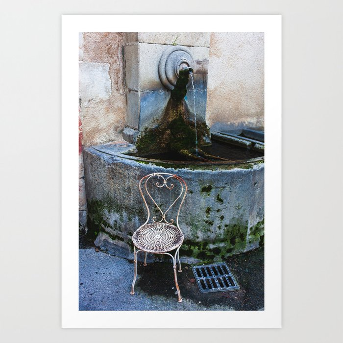 Lourmarin Fountain Art Print