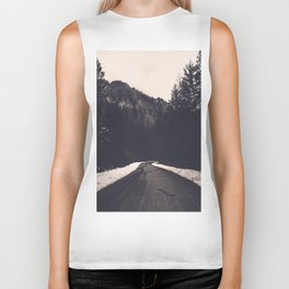 Foggy Forest Road - Lets Get Wild Nature Photography Biker Tank