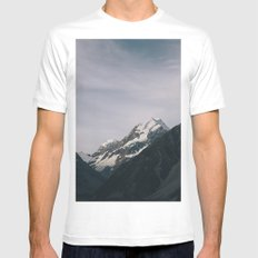 The Mountain MEDIUM White Mens Fitted Tee