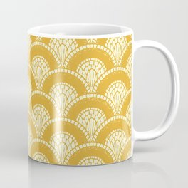 Yellow Wabi Sabi Wave II Coffee Mug