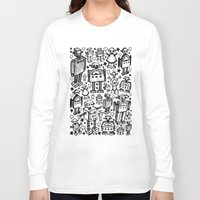 it crowd Long Sleeve T-shirts featuring Robot Crowd by Roseanne Jones
