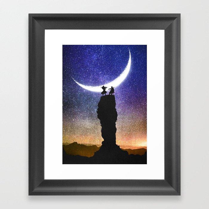 A Sonata at Nightfall Framed Art Print
