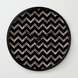 Chevron Glitter Glam #3 #shiny #decor #art #society6 Wall Clock
