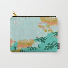 Seafoam Fern Collage Carry-All Pouch