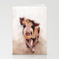 pig Stationery Cards featuring Pig by Bridget Davidson