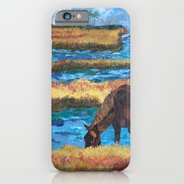 Horse Grazing iPhone Case