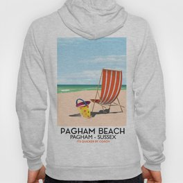 Pagham Beach West Sussex travel poster, Hoody