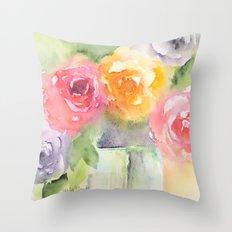 Soft Bouquet Throw Pillow