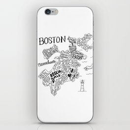Boston Map iPhone Skin