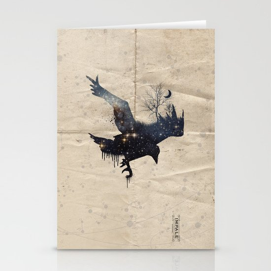 Space Raven Stationery Cards