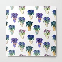 Beaded Floral Art Print by Annalee Beer Metal Print