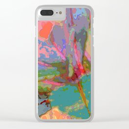 Leaf Pattern Abstract Clear iPhone Case