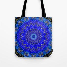 Mandala in Cobalt And Gold Tote Bag