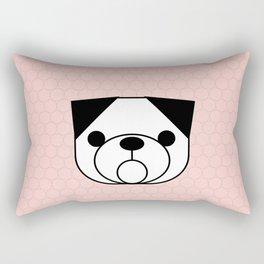 Pop Dog Pug Rectangular Pillow