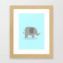Cute elephant Framed Art Print