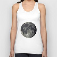 the moon Tank Tops featuring Moon by Pete Baker