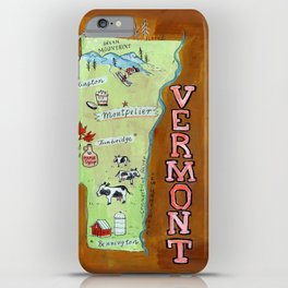 VERMONT map iPhone Case
