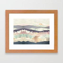 Golden Spring Reflection-Horizontal Muted Framed Art Print