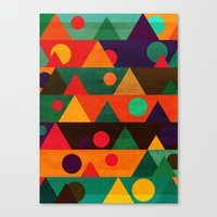 moon phase Canvas Prints featuring The moon phase by Picomodi