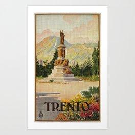 Trento Italy Statue Dante Art Print