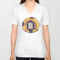 doctor who V-neck T-shirts featuring Doctor Who by foreverwars