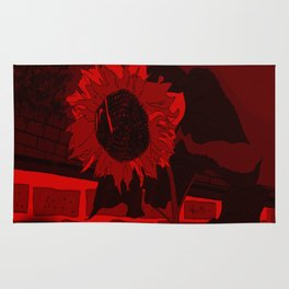 Thee Sunflower in Red by Mgyver Rug