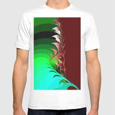 flower leafs White Mens Fitted Tee MEDIUM
